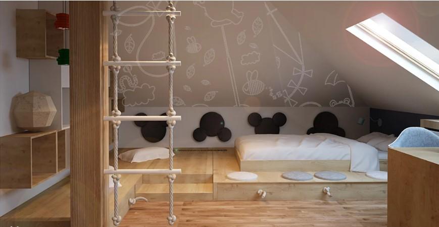 10 способов творчески обустроить стену в детской комнате
