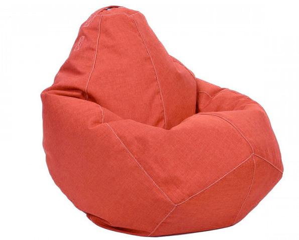 Кресло-груша Коралловое LaPufic Микро-Рогожка