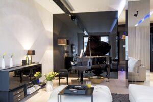 18 идей для модной отделки стен в гостиной в 2020 году