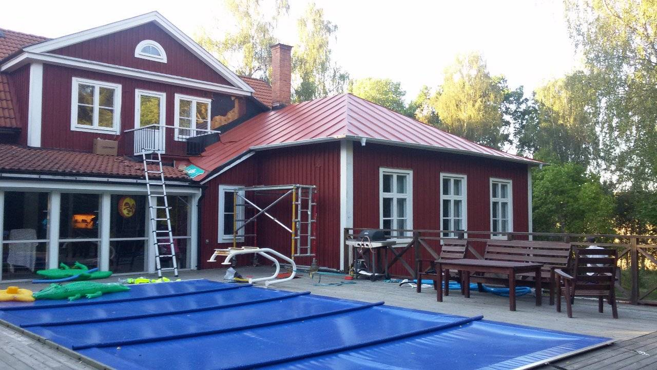 Фальцевая Кровля Швеция 2016