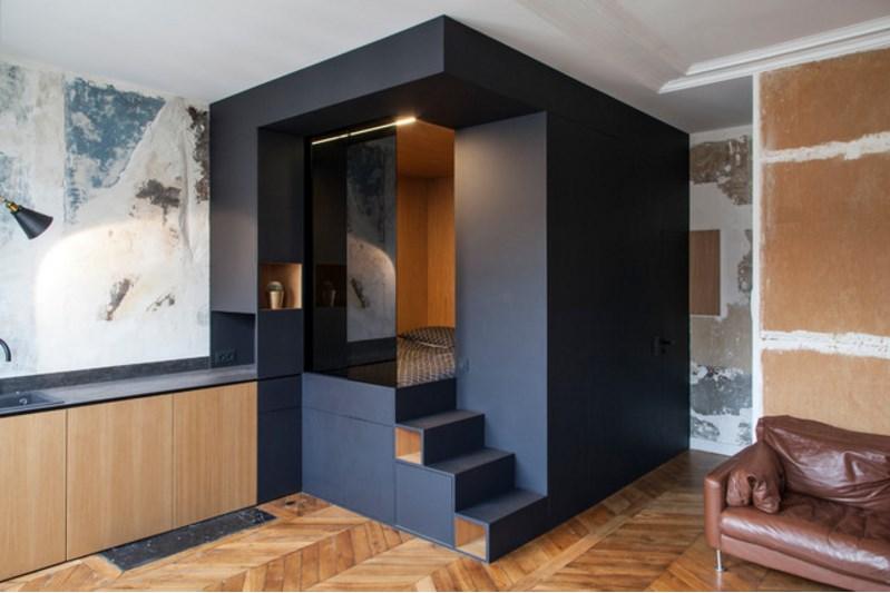Спальня в коробке — 4 оригинальных проекта для маленьких квартир