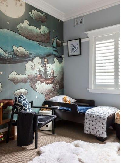 Дизайн детской комнаты - роспись стен