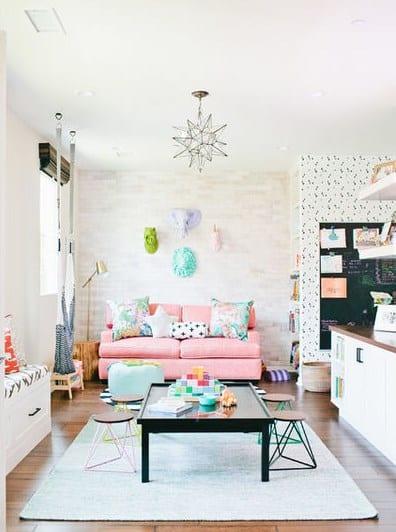 дизайн дитячої кімнати-люстри