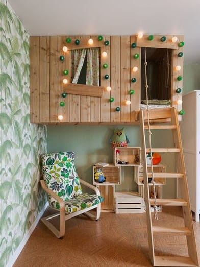 Дизайн детской комнаты - отдельный домик