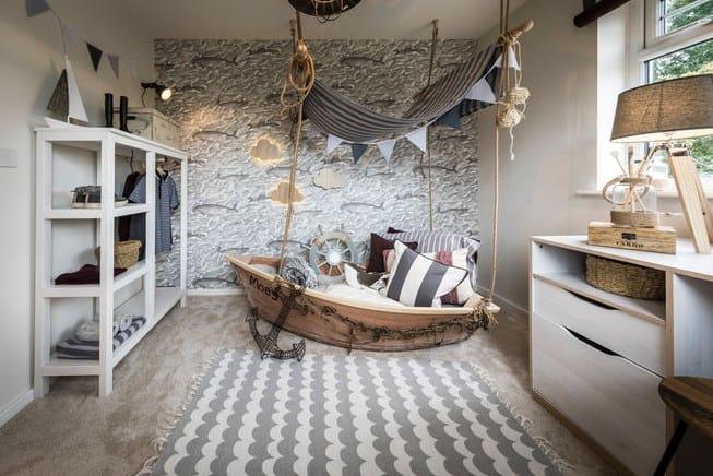 Дизайн детской комнаты - кровать пиратский корабль