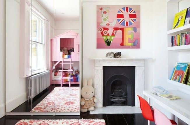дизайн дитячої кімнати-ліжко-будиночок