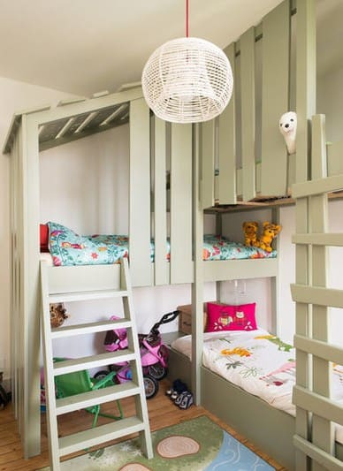 Дизайн детской комнаты - двухъярусная кровать