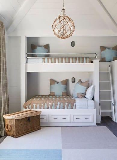 Дизайн детской комнаты - двух ярусная кровать
