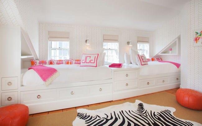 Дизайн детской комнаты - кровати-шкафы