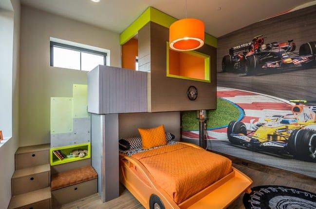 Дизайн детской комнаты в стиле автогонок