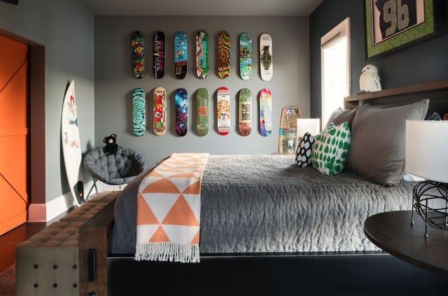 Дизайн детской комнаты - коллекция скейтов