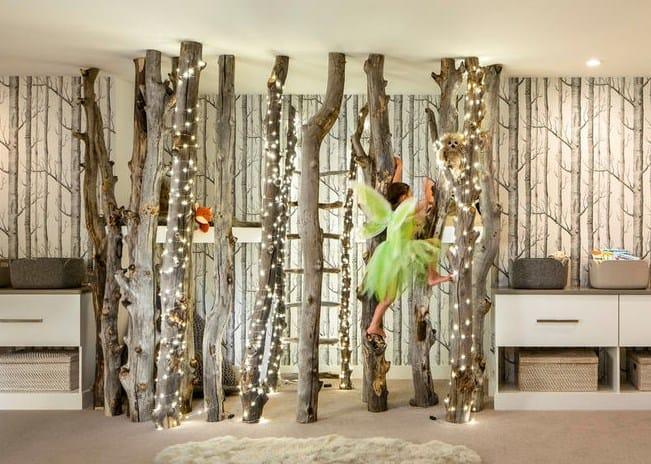 Дизайн детской комнаты - лес в интерьере