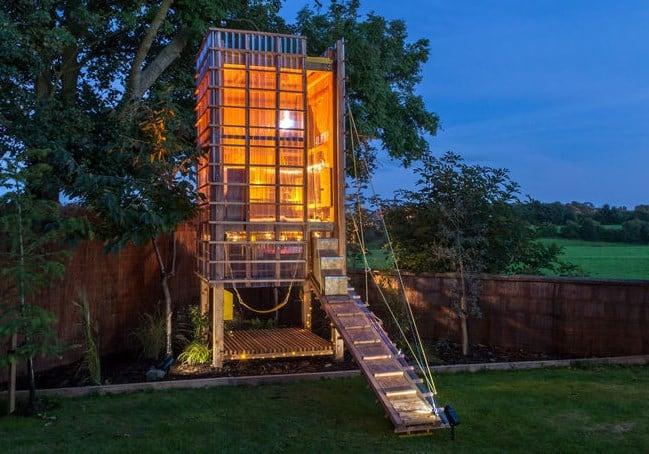 дизайн дитячої кімнати-будиночок в саду