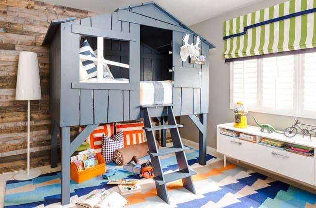 дизайн дитячої кімнати-будиночок ліжко