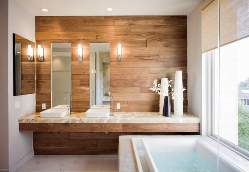 5 альтернатив настенной плитки в ванной комнате