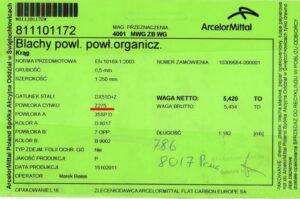dokument-kolichestvo-tsinka-v-metallocherepitse