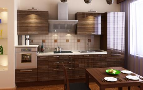Кухонный гарнитур с мойкой из искусственного камня