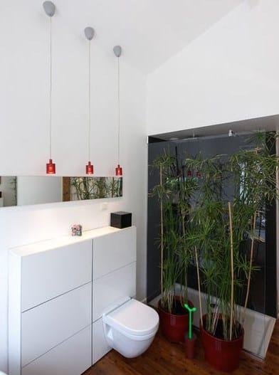 приклад як відокремити туалет від ванни