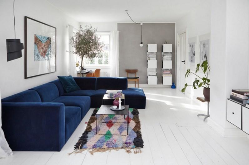 Budpom - Blaue couch welche wandfarbe ...