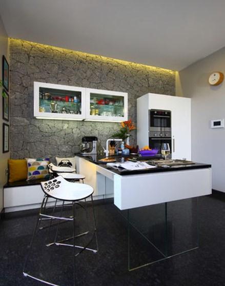 Совместный рабочий и обеденный кухонный стол