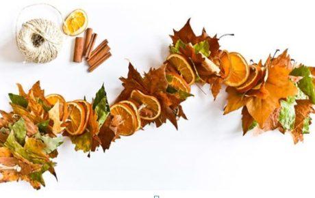 гирлянда из осенних листьев своими руками