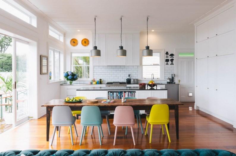 столовая - пастельные тона в дизайне интерьера