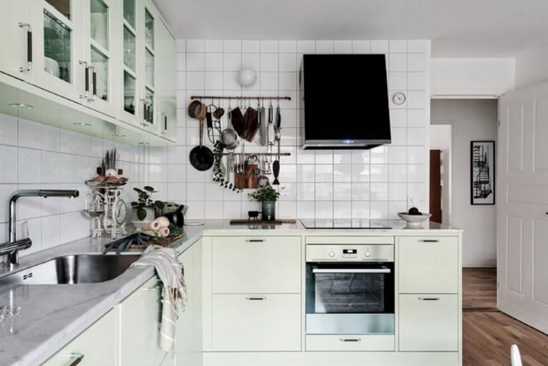 кухня - пастельные тона в дизайне интерьера
