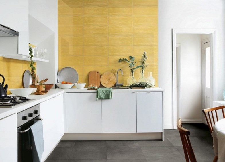 кухня дизайн интерьера в пастельных тонах