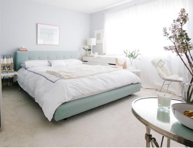 спальня дизайн интерьера в пастельных тонах