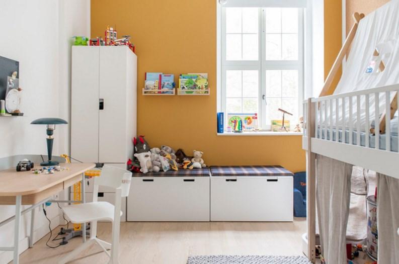 детская комната дизайн интерьера в пастельных тонах