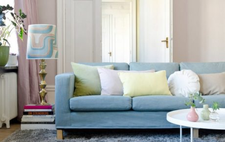 гостиная дизайн интерьера в пастельных тонах
