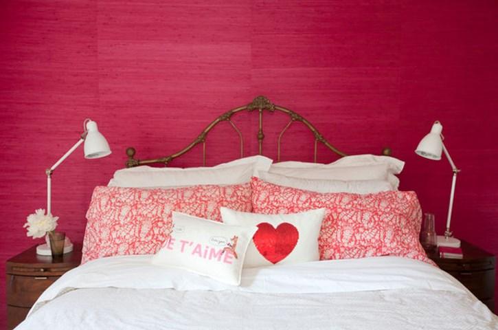 4 романтичных цвета стен в спальне