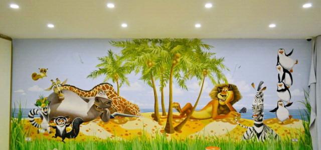 Роспись стен, детская, Мадагаскар