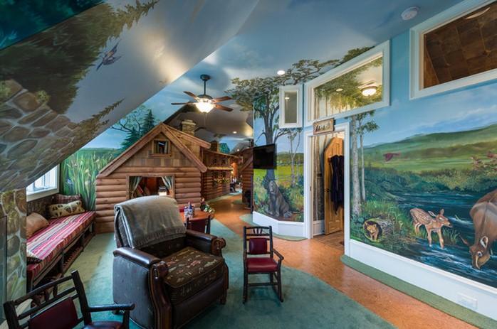 Роспись стен в детской — пригласите сказку в гости!