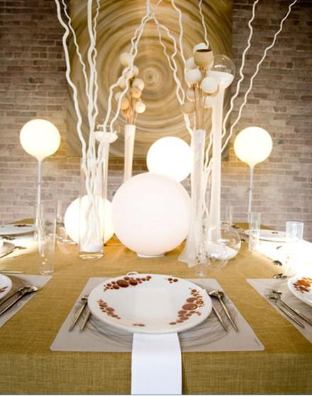 украшение стола фото - красивые лампына столе